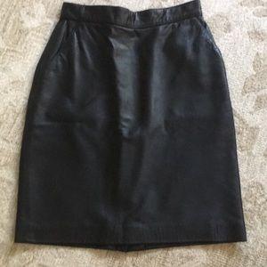 CalvinKlein Classics High-waisted Leather Skirt